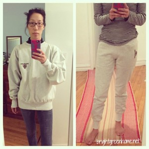 Sweatshirt to skinny sweatpants | brightgreenhome.net