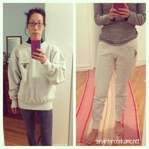 Sweatshirt to skinny sweatpants | brightgreenhome.net
