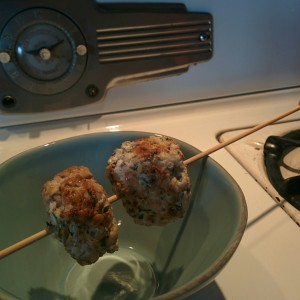 chia chicken meatballs
